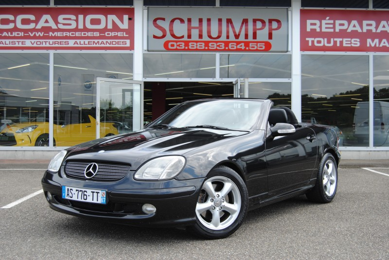 mercedes slk 320 v6 boite auto noir automobiles schumpp. Black Bedroom Furniture Sets. Home Design Ideas